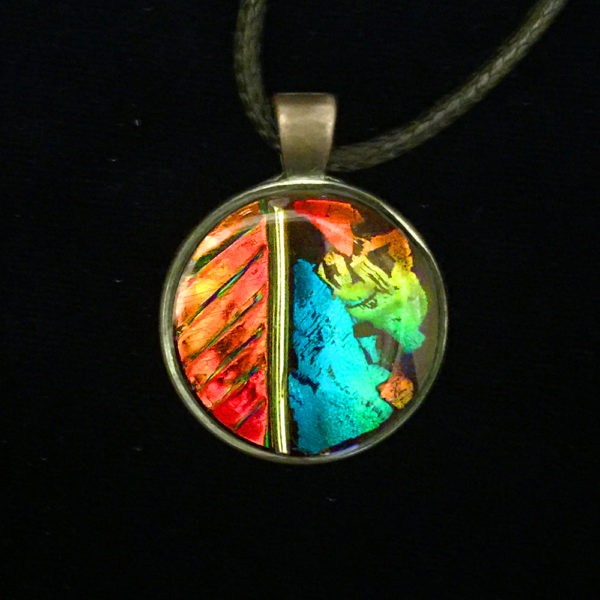 Fire and Ice Sun Catcher Pendant by Tara Riley