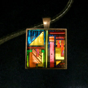 Colorful Geometry Sun Catcher Pendant by Tara Riley