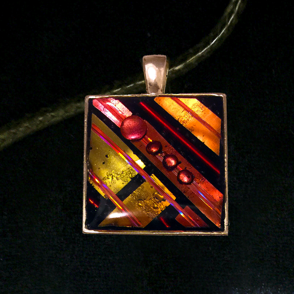Linear Mosaic Pendant by Tara Riley